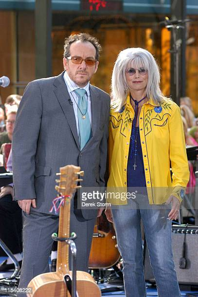Elvis Costello and Emmylou Harris during Elvis Costello and Emmylou Harris Perform on the 2005 'Today' Show Summer Concert Series at The 'Today' Show...