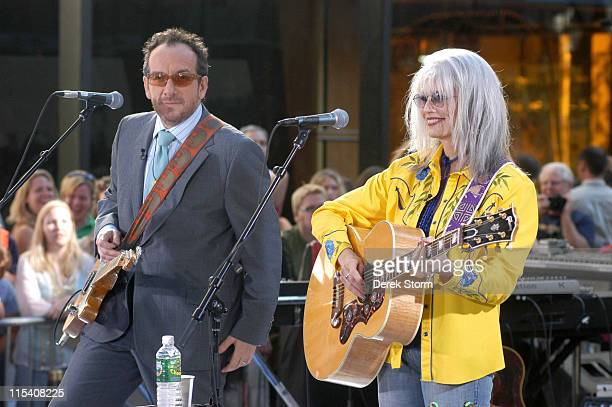 Elvis Costello and Emmylou Harris during Elvis Costello and Emmylou Harris Perform on the 2005 Today Show Summer Concert Series at The Today Show...
