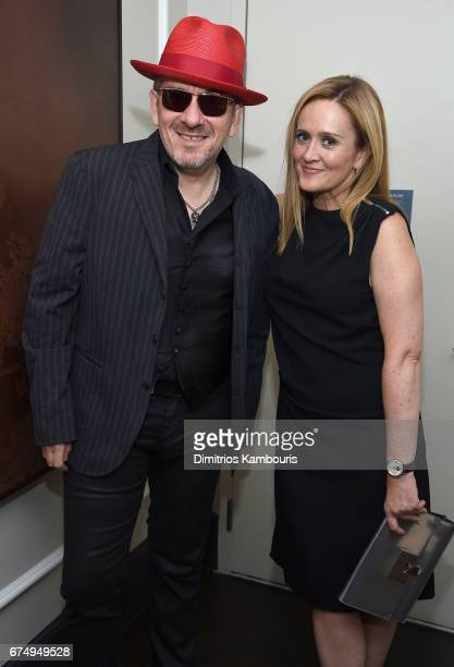 Elvis Costello and Samantha Bee attend Full Frontal With Samantha Bee's Not The White House Correspondents' Dinner After Party at the W Hotel POV...