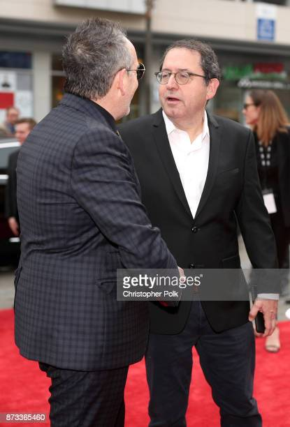 """Elvis Costello and Sony Pictures Classics Co-President Michael Barker attend the screening of """"Film Stars Don't Die In Liverpool"""" at AFI FEST 2017..."""