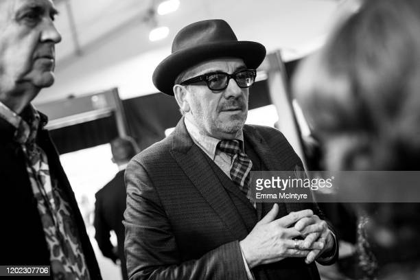 Elvis Costello arrives at the 62nd annual GRAMMY Awards at Staples Center on January 26 2020 in Los Angeles California