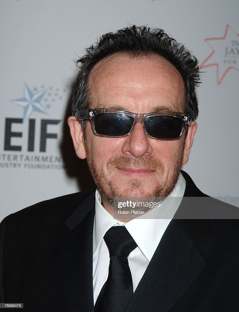 Elvis Costello at the Katie Couric, EIF and NCCRA Present 'Hollywood Meets Motown' Benefit - Arrivals at The Waldorf Astoria Hotel in New York, New York.
