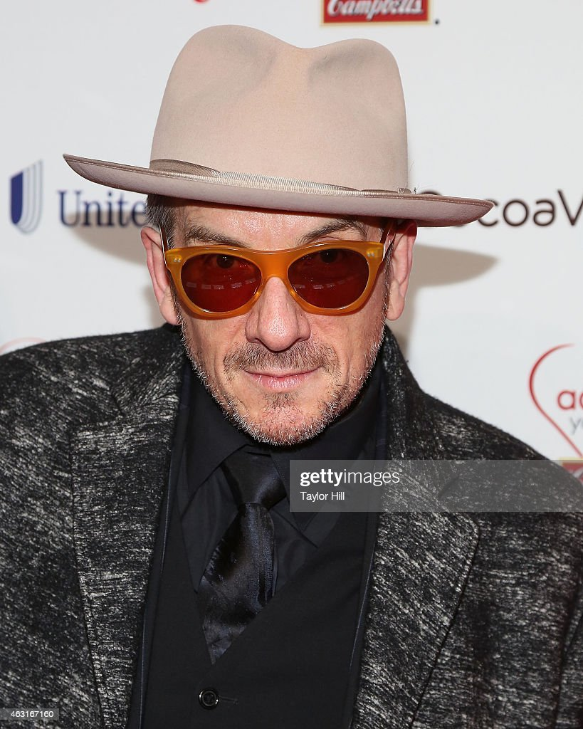 Elvis Costello attends the 12th Annual Woman's Day Red Dress Awards at 10 Columbus Circle on February 10, 2015 in New York City.