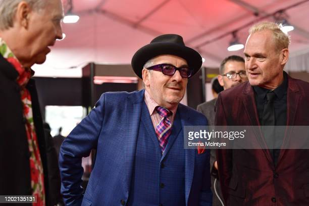Elvis Costello attends the 62nd Annual GRAMMY Awards at STAPLES Center on January 26 2020 in Los Angeles California