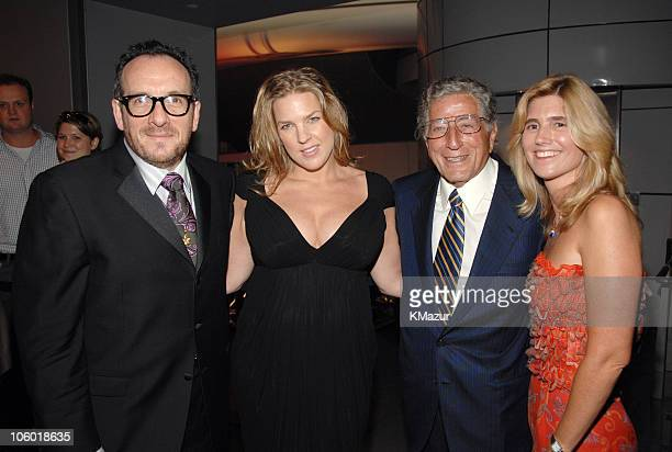 Elvis Costello Diana Krall Tony Bennett and Susan Crow attend the Target celebration for Tony Bennett's 80th birthday
