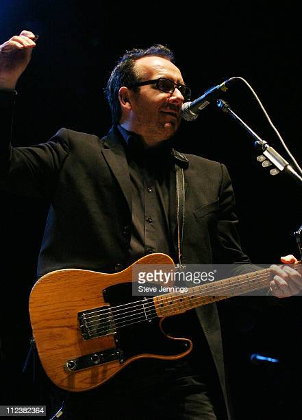 Elvis Costello during Elvis Costello in Concert at Greek Theatre in Berkeley, Ca, United States.