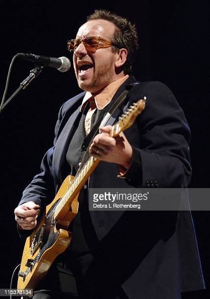 Elvis Costello during Elvis Costello Live In Concert at the Beacon Theater April 22 2005 at Beacon Theater in New York City New York United States