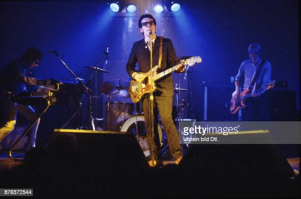 Elvis Costello English musician singersongwriter and record producer on stage at 'Neue Welt' Berlin