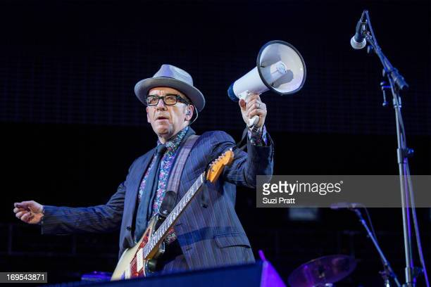 Elvis Costello performing live at the Sasquatch Music Festival at The Gorge on May 26 2013 in George Washington