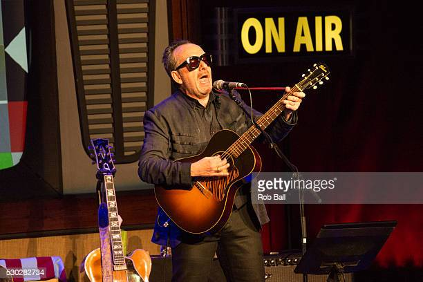 Elvis Costello performs at the London Palladium on May 10 2016 in London England