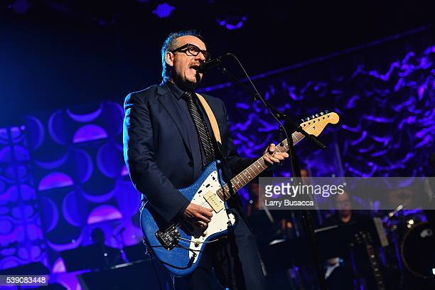 Elvis Costello performs onstage during the Songwriters Hall Of Fame 47th Annual Induction And Awards at Marriott Marquis Hotel on June 9 2016 in New...