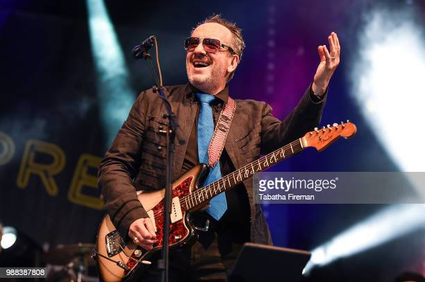 Elvis Costello The Imposters headline the Main Stage on day 2 of Love Supreme Festival on June 30 2018 in Brighton England