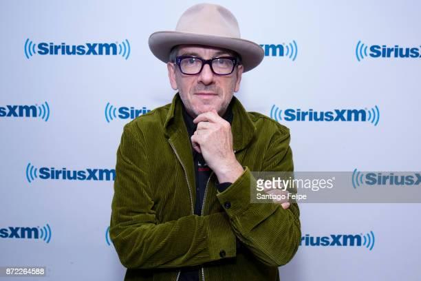 Elvis Costello visits SiriusXM Studios on November 9 2017 in New York City