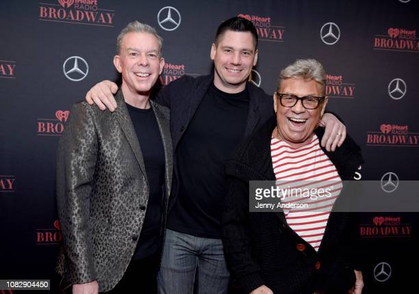 Elvis Duran Alex Carr and Uncle Johnny attend the iHeartRadio Broadway Launch Celebration on January 14 2019 in New York City