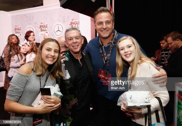 Elvis Duran and Al Leiter attend the Z100's Jingle Ball 2018 Gift Lounge at Madison Square Garden on December 7 2018 in New York City