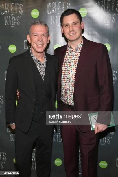 Elvis Duran and Alex Carr attend 2017 Chefs for Kids' Cancer New York City on February 16 2017 in New York City