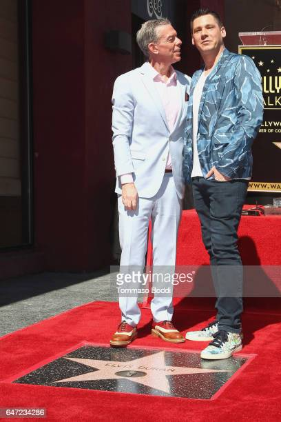Elvis Duran and Alex Carr attend a Ceremony Honoring Elvis Duran With Star On The Hollywood Walk Of Fame on March 2 2017 in Hollywood California