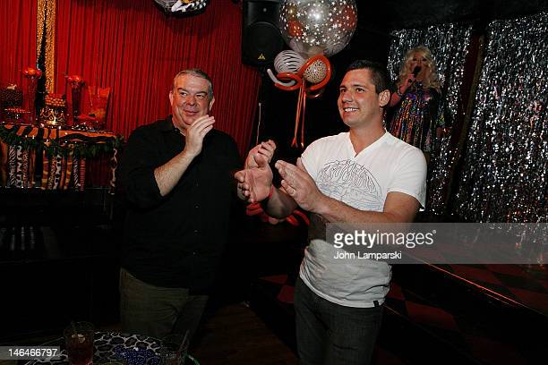 Elvis Duran and Alex Carr attend Alex Carr's birthday celebration at The Stonewall Inn on June 16 2012 in New York City