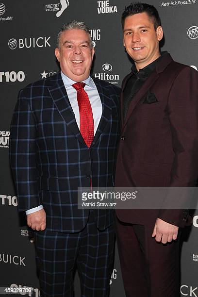 Elvis Duran and Alex Carr attend Out100 2014 presented by Buick on November 20 2014 in New York City