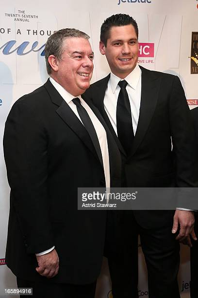 Elvis Duran and Alex Carr attend the 27th Annual Night Of A Thousand Gowns at the Hilton New York on April 6 2013 in New York City