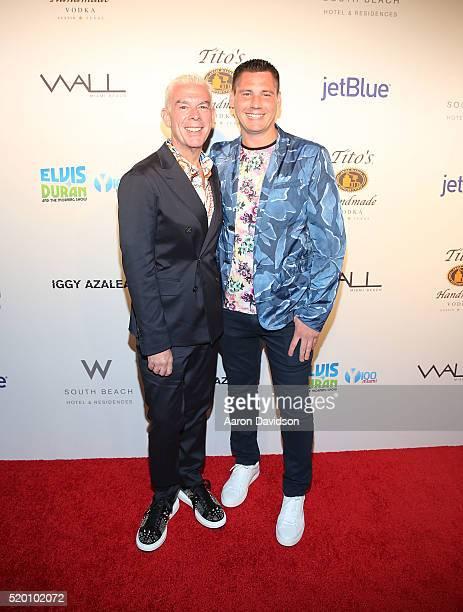 Elvis Duran and Alex Carr attend the Miami Beach Gay Pride Parade Kickoff Event>> on April 10 2016 in Miami Beach Florida
