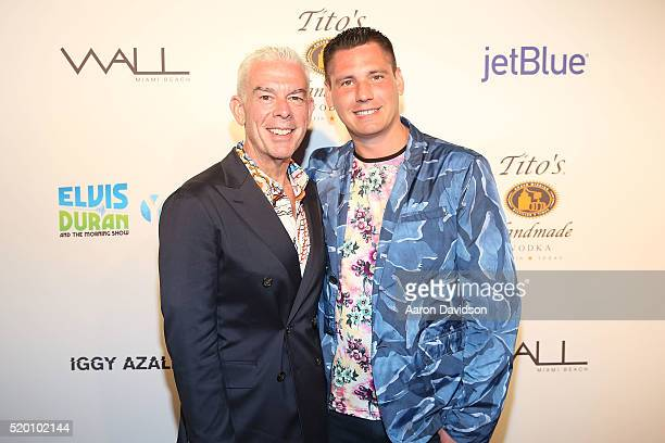 Elvis Duran and Alex Carr attend the Miami Beach Gay Pride Parade Kickoff Event>> on April 10 2016 in Miami Beach Florida