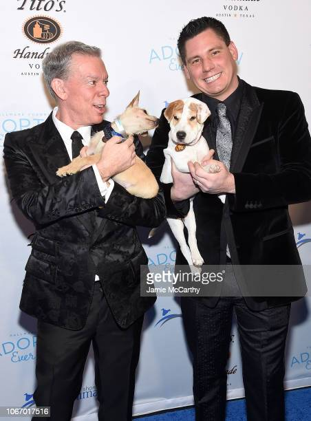 Elvis Duran and Alex Carr attend the North Shore Animal League America's Annual Celebrity Get Your Rescue On Gala at Pier Sixty at Chelsea Piers on...