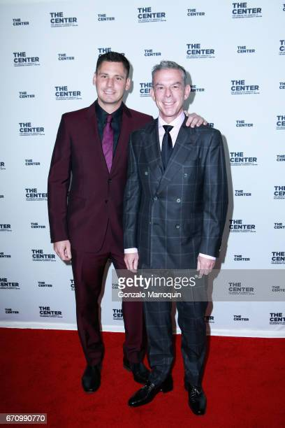 Elvis Duran and Alex Carr attend the The LGBT Community Center Dinner at Cipriani Wall Street on April 20 2017 in New York City