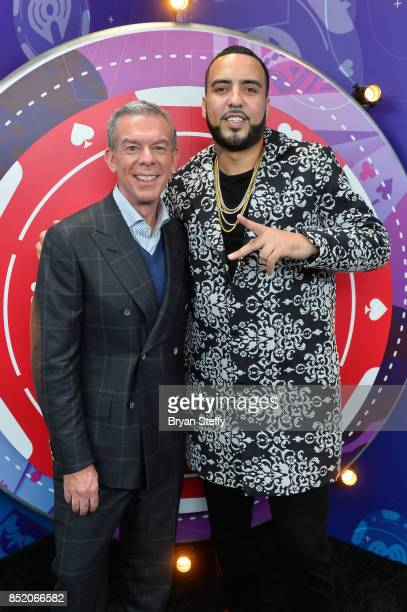 Elvis Duran and French Montana attend the 2017 iHeartRadio Music Festival at TMobile Arena on September 22 2017 in Las Vegas Nevada