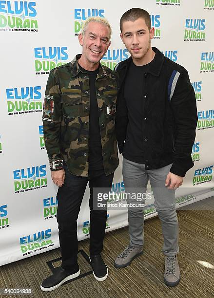 Elvis Duran and Nick Jonas attend The Elvis Duran Z100 Morning Showat Z100 Studio on June 14 2016 in New York City