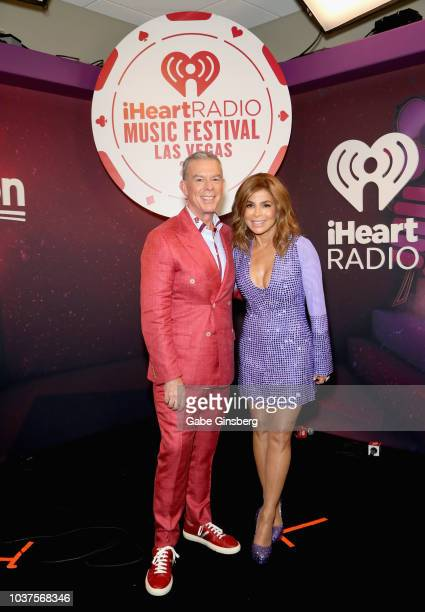 Elvis Duran and Paula Abdul attend the 2018 iHeartRadio Music Festival at TMobile Arena on September 21 2018 in Las Vegas Nevada