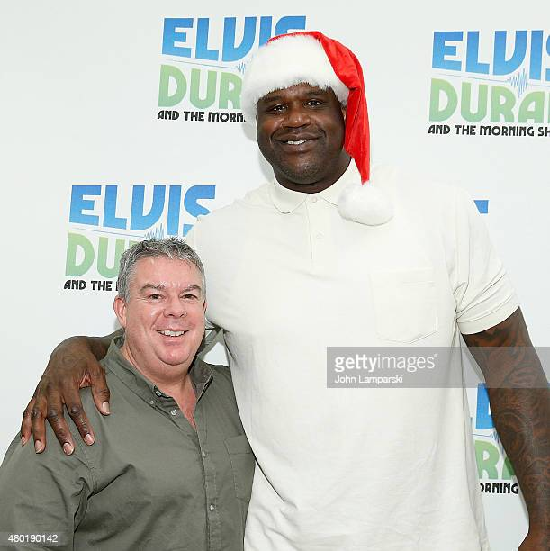 Elvis Duran and Shaquille O'Neal Visits The Elvis Duran Z100 Morning Show at Z100 Studio on December 9 2014 in New York City