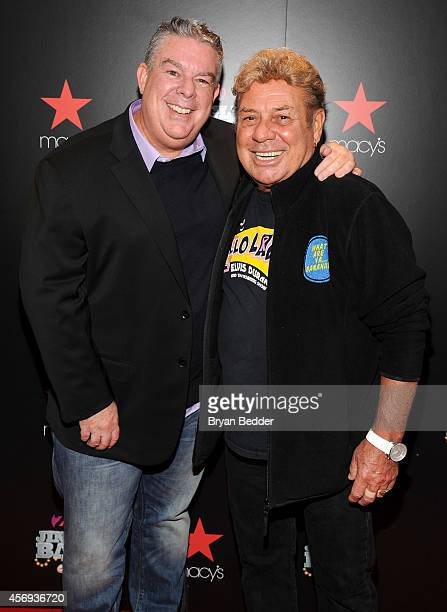 Elvis Duran and Uncle Johnny attend Z100's Jingle Ball 2014 Official Kick Off Event presented by Goldfish Puffs on October 9 2014 in New York City at...