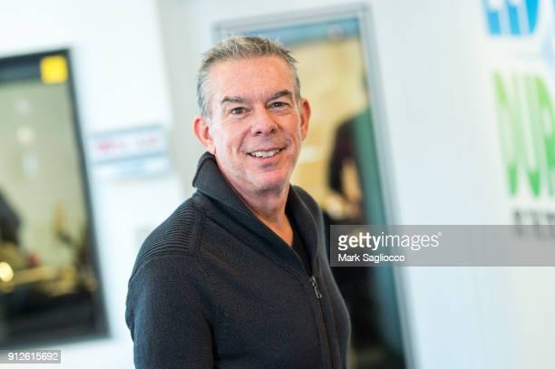 Elvis Duran at the Z100 Studio on January 31 2018 in New York City