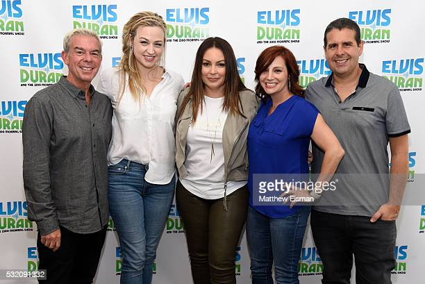 Elvis Duran Bethany Watson Angie Martinez Danielle Monaro and Skeery Jones visit The Elvis Duran Z100 Morning Show at Z100 Studio on May 18 2016 in...