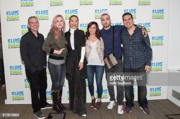 Elvis Duran Bethany Watson Rita Ora Danielle Monaro Liam Payne and Skeery Jones visit 'The Elvis Duran Z100 Morning Show' at Z100 Studio on January...