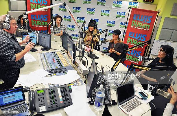 Elvis Duran chats to cast members of reality TV series Mob Wives Angela Big Ang Raiola Drita D'Avanzo and Renee Graziano during The Elvis Duran Z100...