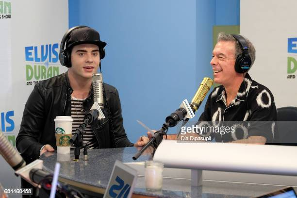 Elvis Duran interviews Leon Else during his visit to 'The Elvis Duran Z100 Morning Show' at Z100 Studio on May 18 2017 in New York City
