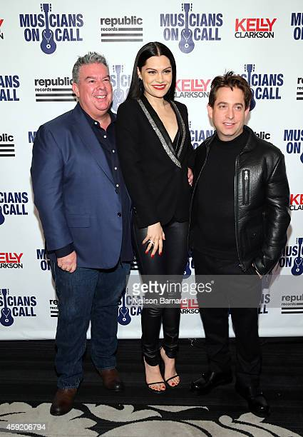 Elvis Duran, Jessie J and Charlie Walk attend Musicians On Call Celebrates Its 15th Anniversary Honoring Kelly Clarkson And EVP Of Republic Records,...