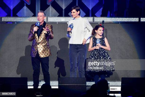 Elvis Duran Katie Holmes and Suri Cruise speak performs onstage at the Z100's Jingle Ball 2017 on December 8 2017 in New York City