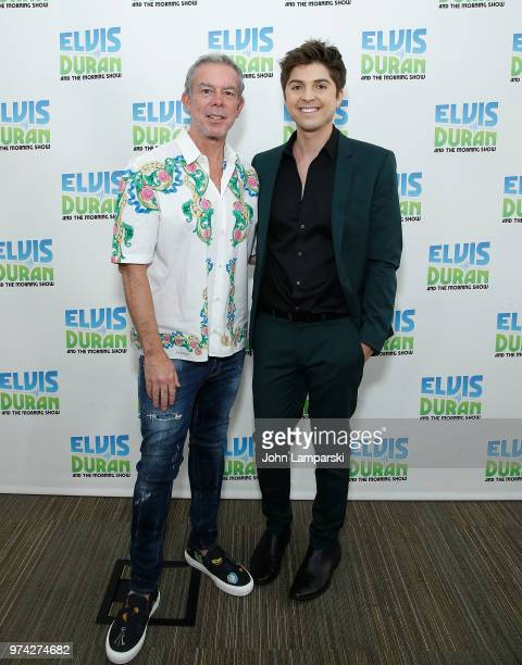 Elvis Duran poses as singer Cole Redding visits 'The Elvis Duran Z100 Morning Show' at Z100 Studio on June 14 2018 in New York City