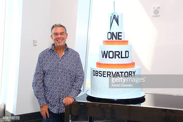 Elvis Duran poses for photos during The Elvis Duran The Z100 Morning Show live broadcast from OWO Opening Ceremony at One World Trade Center on May...
