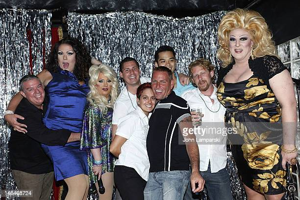Elvis Duran Renee Fleming Ariel Sinclair Alex Carr Gusty Wind and guests attends Alex Carr's birthday celebration at The Stonewall Inn on June 16...