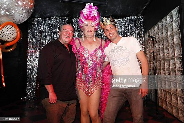 Elvis Duran Tiffany Wells and Alex Carr attend Alex Carr's birthday celebration at The Stonewall Inn on June 16 2012 in New York City