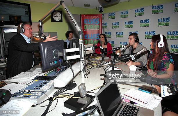 Elvis Duran Vinny Guadagnino and Deena Nicole Cortese visit The Elvis Duran Z100 Morning Show at Z100 Studio on March 14 2012 in New York City