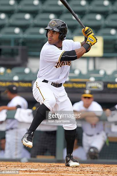 Elvis Escobar of the Marauders during the Florida State League game between the Brevard County Manatees and the Bradenton Marauders at McKechnie...