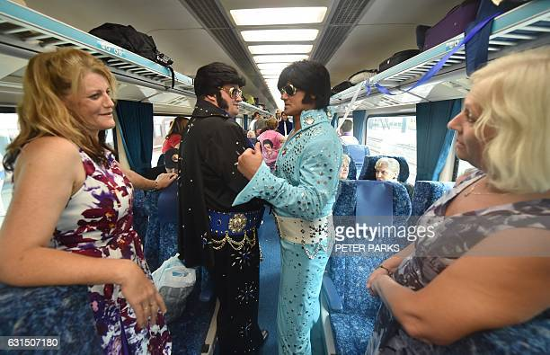 Elvis fans board a train to take them to The Parkes Elvis Festival from Sydney on January 12 2017 The Parkes Elvis Festival is an annual event...