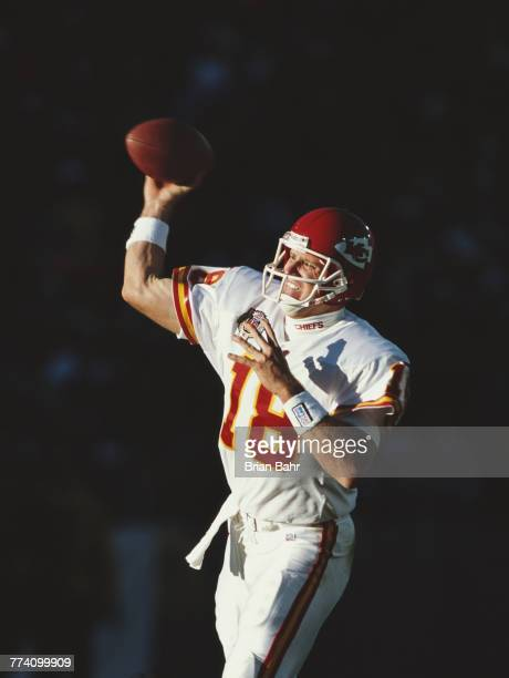 Elvis Grbac Quarterback for the Kansas City Chiefs during the American Football Conference West game against the Denver Broncos on 5 December 1999 at...