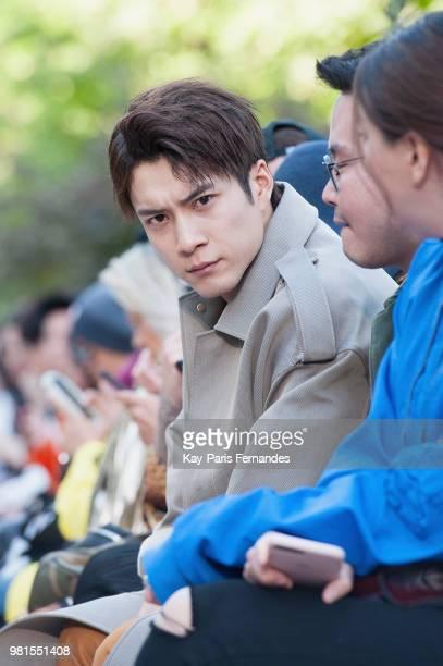 Elvis Han attends the Sean Suen Menswear Spring/Summer 2019 show as part of Paris Fashion Week on June 22 2018 in Paris France