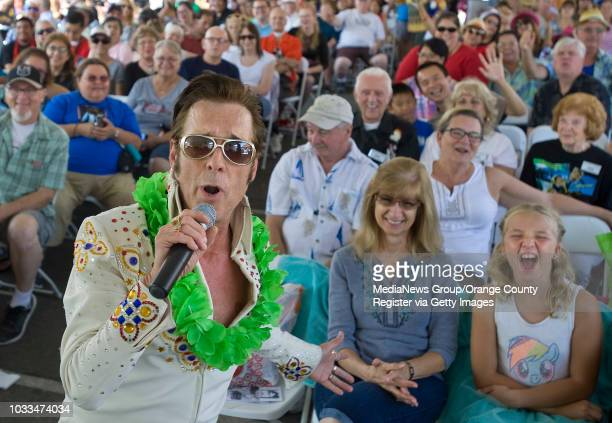 Elvis impersonator Kirk Wall of Anaheim is popular with the ladies as he hosts the 17th Annual Elvis Festival ÒThe King Lives OnÓ in Garden Grove...